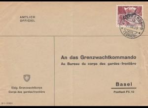 Schweiz: 1955: Grenzwachtkops Zollikerberg nach Basel