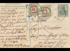 Schweiz: 1908: Graz nach Basel, Nachgebühr