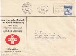 Schweiz: 1941: Zürich nach Brünn, OKW Zensur
