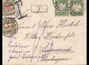 Schweiz: 1909: Deutschland nach Orselina, Nachgebühr