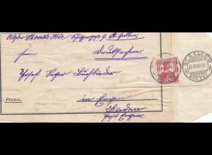 Schweiz: 1909: ST. Gallen nach London, Adressteil