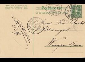 Schweiz: 1909: Cacao Suchard, nach Wangen,