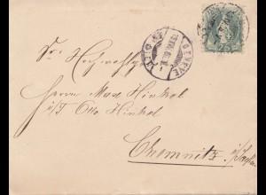 Schweiz: 1886: Genf nach Chemnitz
