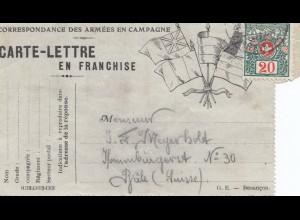 Schweiz: 1915: Carte-Lettre
