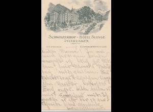 Schweiz: 1906: Interlaken nach Wiesbaden