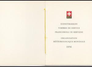 Schweiz: 1956: Dienstmarken Organisation Meteorologique Mondiale