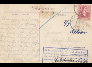 Schweiz: 1908: Ansichtskarte Lauterbrunnen Staubbach, nach Düsseldorf, zurück