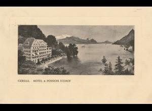 Schweiz: 1911: Ansichtskarte Gersau