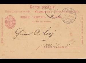 Schweiz: Ganzsache: 1932: St.Gallen Chocolat Suchard