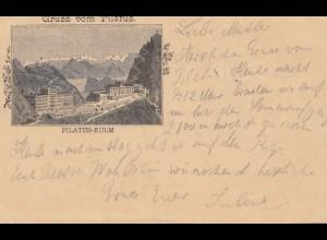 Schweiz: Ganzsache: 1891: Gruss vom Pilatus