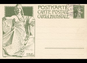 Schweiz: Ganzsache: P38b, Bern 1909