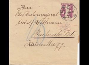 Schweiz: Ganzsache: 1930: Streifband Uzwil nach Karlsruhe