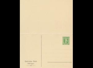 Schweiz: Ganzsache: Eindruck Oftringen und Antwortkarte