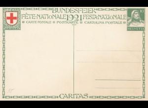 Schweiz: Ganzsache: 1921: Bundesfeier