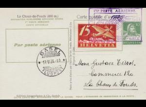 Schweiz: Ganzsache: 1926: Basel, Poste Aerienne