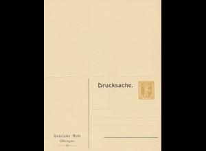 Schweiz: Ganzsache: mit privatem Eindruck Oftringen, und Antwortkarte