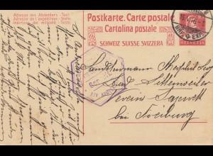 Schweiz: 1916: Basel nach Freiburg, Geprüft