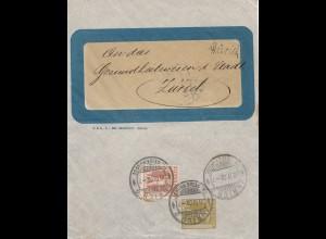 Schweiz: Ganzsache: 1908: Zürich/Winterthur