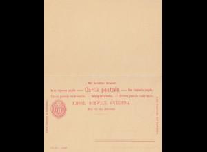 Schweiz: Ganzsache: P29 mit Anwortkarte