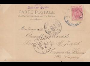 Serbien: 1903: Ganzsache nach Paris