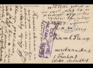 Serbien: 1918: Ansichtskarte, Zensur