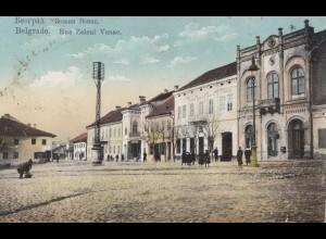 Serbien: 1915: Ansichtkarte Belgrad, KuK Feldpost nach Wien