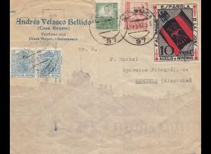 Spanien: 1937: Brief Salamanca nach München