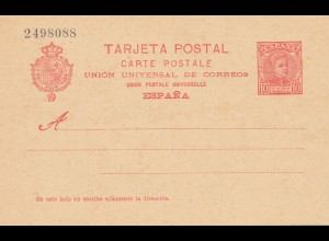 Spanien: Ganzsache Tarijeta Postal