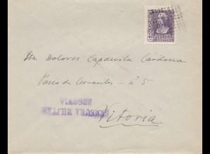 Spanien: 193x: Brief mait Zensur nach Vitoria