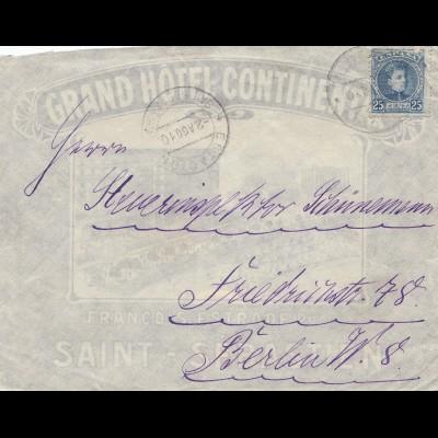 Spanien: 1910: Saint Sebastien nach Berlin