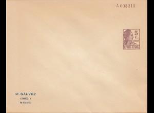 Ganzsachen Brief mit Eindruck Madrid