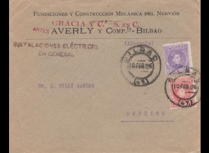 Spanien: 1906: Bilbao nach Dresden