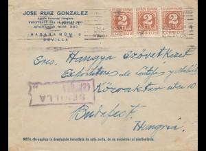 Spanien: 1940: Sevilla nach Budapest, Zensur