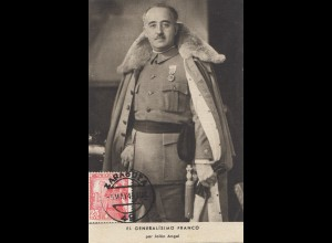 Spanien: 1949: Generalisimo Franco, Maximumkarte