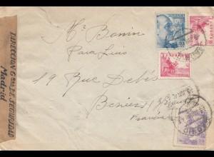 Spanien: 1940: Brief nach Frankreich, Zensur