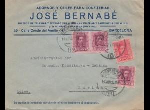 Spanien: 1927: Barcelona nach Zürich