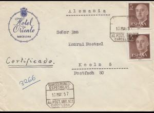 Spanien: 1957: Barcelona nach Köln