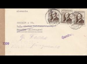 Spanien: 1948: Luftpost nach Hamburg