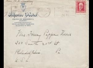 Spanien: 1933: Palma nach USA