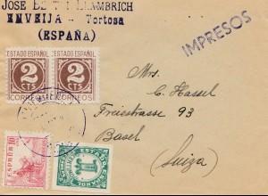 Spanien: Brief nach Basel, Drucksache