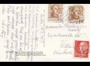 1957: Ansichtskarte Sevilla nach Wien
