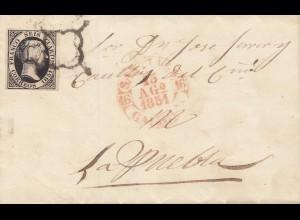 Spanien: 1851: Brief
