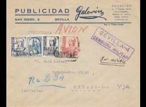 Spanien: 1937: Sevilla nach Berlin, Zensur