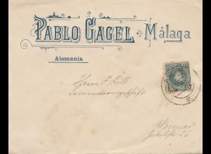 Spanien: Brief aus Malaga nach Weimar