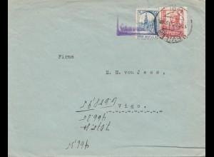 Spanien: 1938: Brief aus Sevilla nach Vigo, Dampfschiff Neptun/Bremen