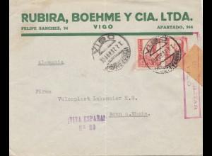 Spanien: 1937: Vigo nach Bonn, Zensur