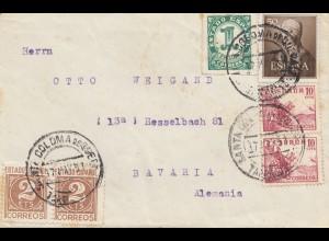 Spanien: 1951: Coloma de Queral nach Hesselbach