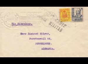 Spanien: 1937: Cadiz nach Düsseldorf, Zensur