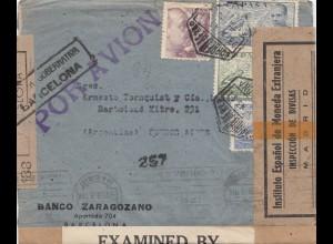 Spanien: 1943: Barcelona nach Argentinien, Zensuren