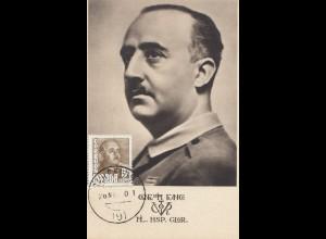 Spanien: Ansichtskarte Franco